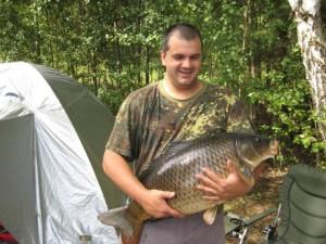 Spiegelkarpfen, 23 Pfund bei 80 cm Länge
